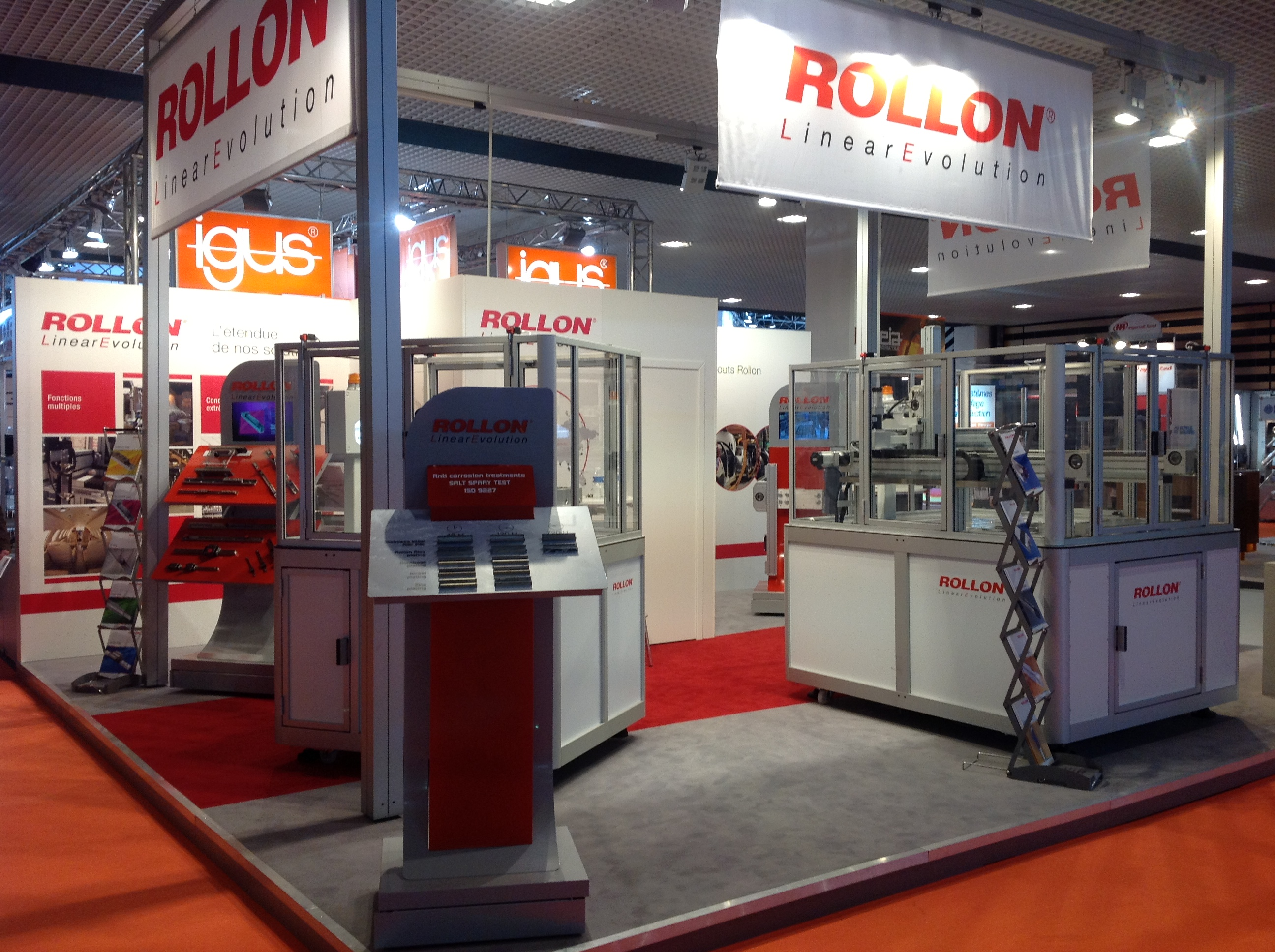 News rollon exposant l incontournable salon de l for Salon machine outil paris
